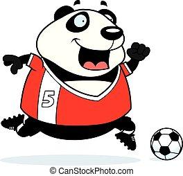 Cartoon Panda Soccer
