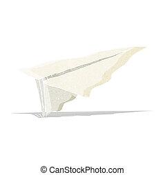 cartoon paper airplane