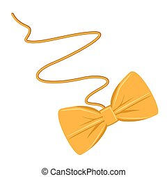 Cartoon paper bow cat toy