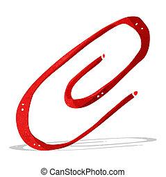 cartoon paperclip
