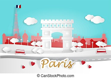cartoon paris city