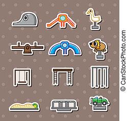 cartoon park playground stickers