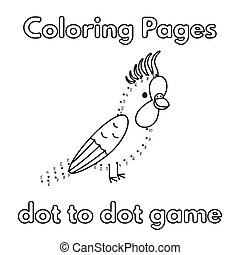 Cartoon Parrot Coloring Book