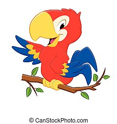 Cartoon Parrot