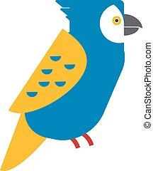 Cartoon parrot wild animal parrot bird tropical feather zoo vector