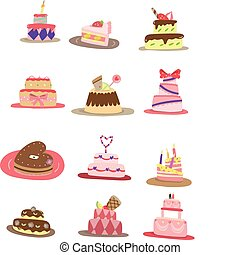 cartoon pattern cake icon