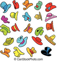 cartoon pattern with hats