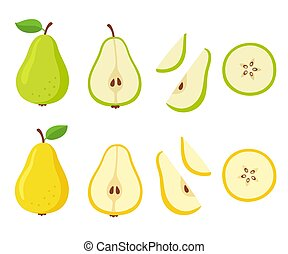Cartoon pear set