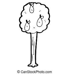 cartoon pear tree