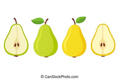 Cartoon pears set
