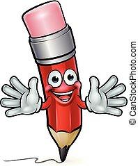 Cartoon Pencil Character