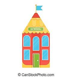 cartoon pencil school