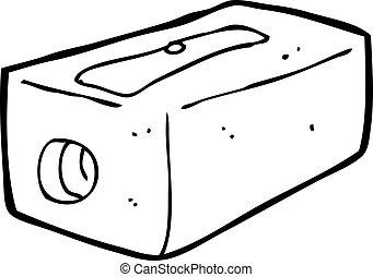 cartoon pencil sharpener