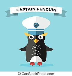 Cartoon penguin character vector illustration