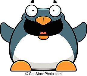 Cartoon Penguin Happy