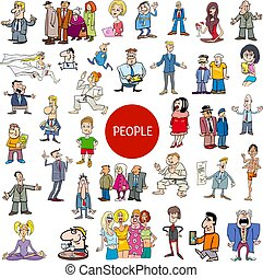 cartoon people characters collection