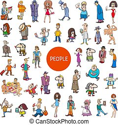 cartoon people characters large set