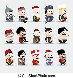 cartoon people - vector set of cartoon people