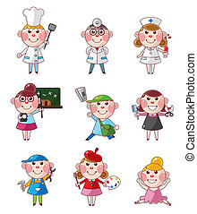 cartoon people job icons