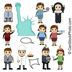 Cartoon People Vector Characters