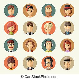 cartoon people  - Group of happy cartoon people