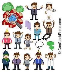 Cartoon People Vector Concepts Set