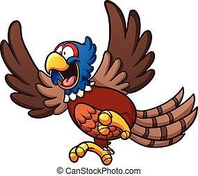 Cartoon pheasant