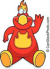 Cartoon Phoenix Sitting