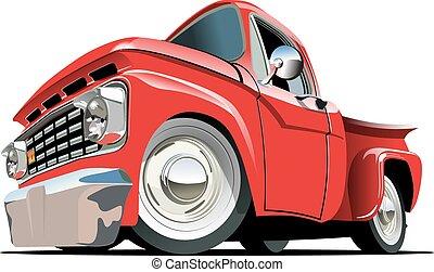 Cartoon Pickup - Cartoon retro pickup . Available EPS-10...