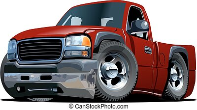 Cartoon pickup stock vector