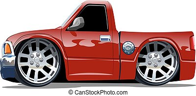 Cartoon pickup stock vector - Cartoon pickup isolated on...