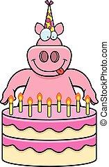 Cartoon Pig Birthday