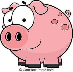 Cartoon Pig Happy