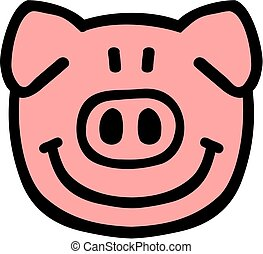 Cartoon pig head
