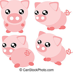 Cartoon pig illustration