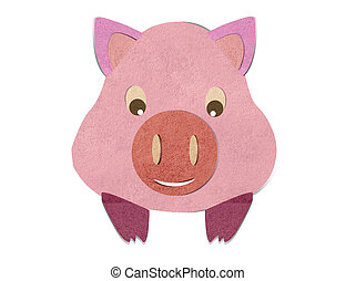 Cartoon pig head on a stick - photo#46
