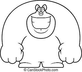 Cartoon Pig Smiling