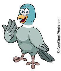 Cartoon pigeon