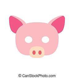 Cartoon piggy mask vector
