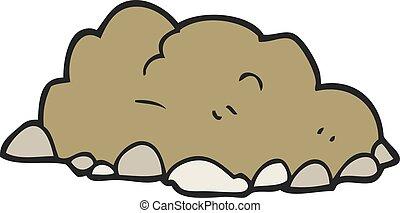 cartoon pile of dirt - freehand drawn cartoon pile of dirt