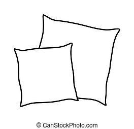 cartoon pillow vectors illustration search clipart