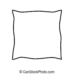 cartoon pillow vector clip art search illustration
