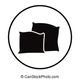 Cartoon pillow silhouette vector illustration
