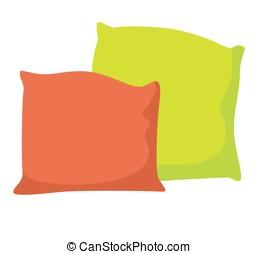 Cartoon pillow vector illustration