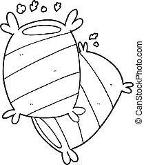 Cartoon Pillows Stock Illustrationby