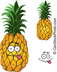 Cartoon pineapple fruit
