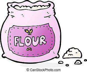 cartoon pink bag of flour