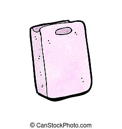 cartoon pink gift bag