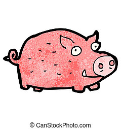 cartoon pink pig