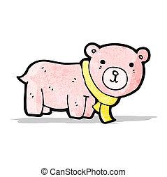 cartoon pink teddy bear
